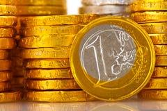Porciones de dinero europeo Fotografía de archivo libre de regalías