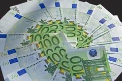 Porciones de efectivo del dinero Fotografía de archivo