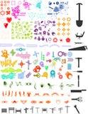 Porciones de elementos Imagenes de archivo