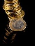 Porciones de euro Fotografía de archivo libre de regalías