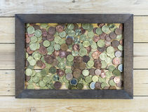 Porciones de euro Imagen de archivo