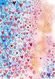 Porciones de fondo lindo de los corazones Fotografía de archivo libre de regalías