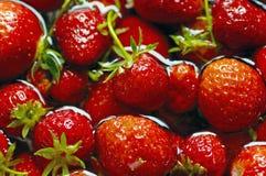Porciones de fresas Fotos de archivo