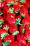Porciones de fresas Imagen de archivo