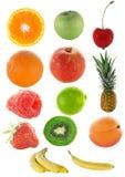 Porciones de fruta colorida Imagen de archivo libre de regalías