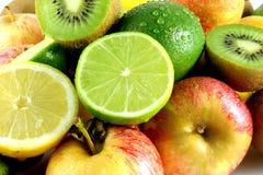 Porciones de fruta fresca Imagen de archivo libre de regalías