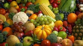 Porciones de frutas y verdura