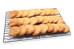Porciones de galletas Fotografía de archivo libre de regalías