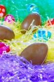 Porciones de huevos de Pascua Fotografía de archivo