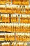 Porciones de joyería del oro Imagenes de archivo