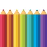 Porciones de lápices coloreados. Foto de archivo libre de regalías