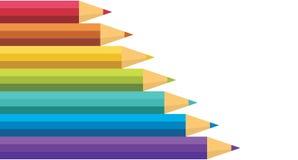 Porciones de lápices coloreados. Fotos de archivo