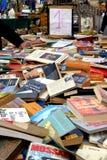 Porciones de libros en mercado de pulgas Fotografía de archivo libre de regalías