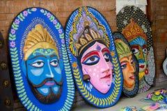 Porciones de máscaras que esperan para celebrar Año Nuevo bengalí próximo Fotografía de archivo