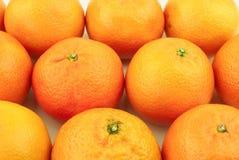 Porciones de mandarines Foto de archivo
