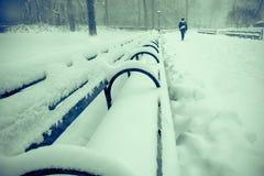 Porciones de nieve Imagen de archivo libre de regalías