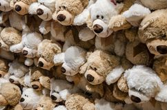 Porciones de osos de peluche foto de archivo