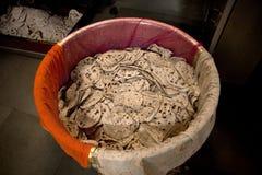 Porciones de pan plano de Naan del indio imagen de archivo libre de regalías