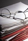 Porciones de papeleo Fotografía de archivo