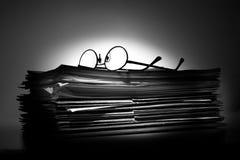 Porciones de papeleo Imagen de archivo libre de regalías