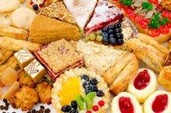Porciones de pasteles Imagen de archivo