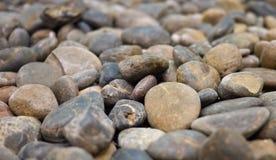 Porciones de piedra del guijarro Fotos de archivo libres de regalías