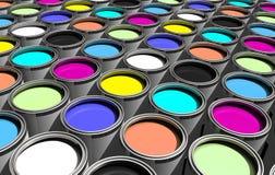 Porciones de pintura Foto de archivo libre de regalías