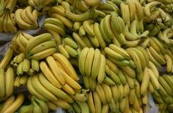 Porciones de plátanos amarillos fotografía de archivo