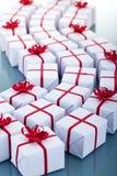 Porciones de regalos de Navidad Fotografía de archivo libre de regalías