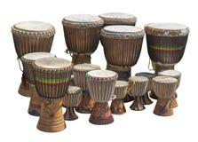 Porciones de tambores africanos fotos de archivo