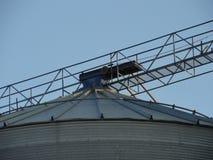 Porciones de un elevador de grano abandonado Foto de archivo libre de regalías