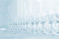 Porciones de vidrios de vino Fotos de archivo libres de regalías