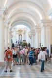Porciones de visitantes en la ermita, StPetersburg Fotografía de archivo