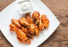 Porcja bawoli kurczaków skrzydła Fotografia Stock