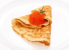 Porcja bliny na talerzu obrazy royalty free