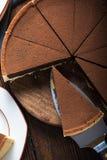 Porcja czekoladowy delikt lub tort Zdjęcie Royalty Free