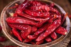 Porcja czerwony Chillis Zdjęcie Royalty Free