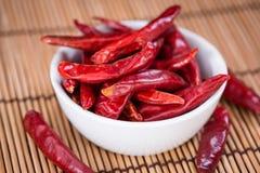 Porcja czerwony Chillis Fotografia Stock