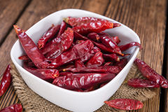 Porcja czerwony Chillis Zdjęcie Stock