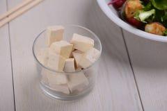 Porcja firmowi Tofu sześciany fotografia stock