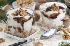Porcja jogurt obraz royalty free