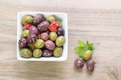 Porcja oliwki Fotografia Stock
