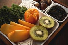 Porcja owoc dla przyjęcia zdjęcie royalty free