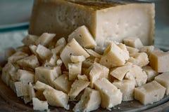 Porcja Pecorino ser Włoski prawdziwy jedzenie Obraz Stock