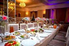 Porcja wakacje stół Zdjęcia Royalty Free