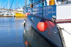 Porcja wiążąca dokować jacht Fotografia Royalty Free