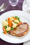 Porco ad alette [bistecca del porco] Fotografia Stock