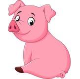 Porco adorável do bebê dos desenhos animados Fotografia de Stock Royalty Free