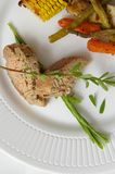 Porco & verdure Immagini Stock Libere da Diritti