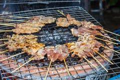 Porco arrostito bistecca tailandese tradizionale Fotografia Stock